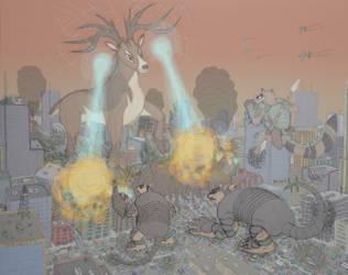 Three Kaiju Alarm (with story)