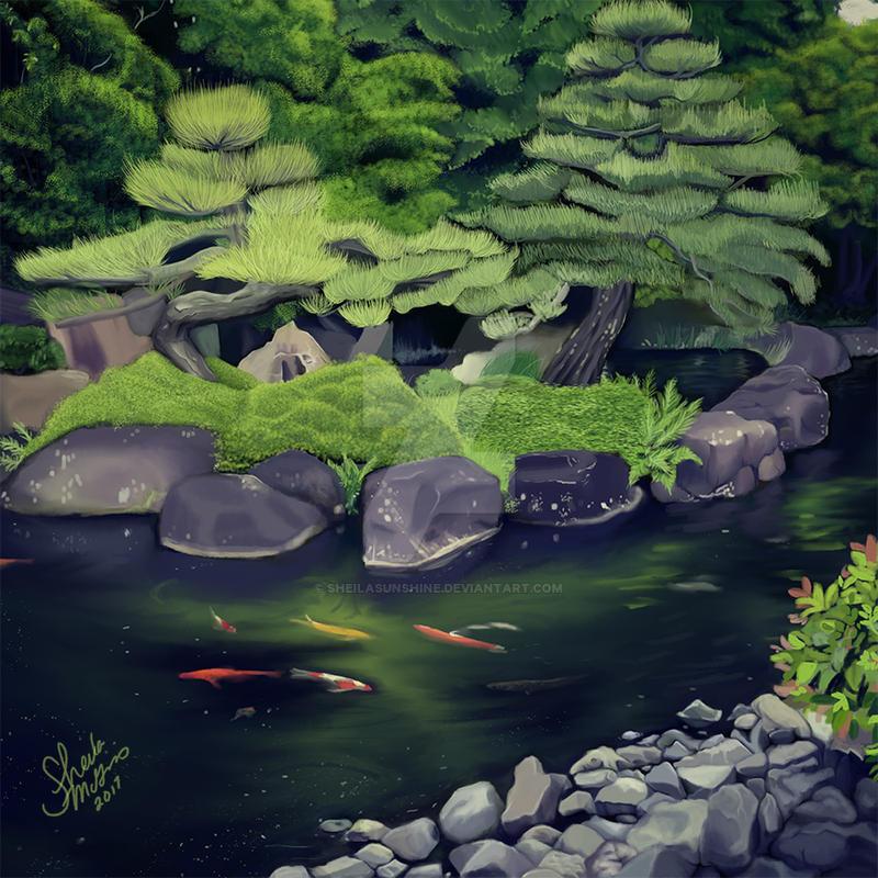 The Koi of Koko-en Garden by SheilaSunshine