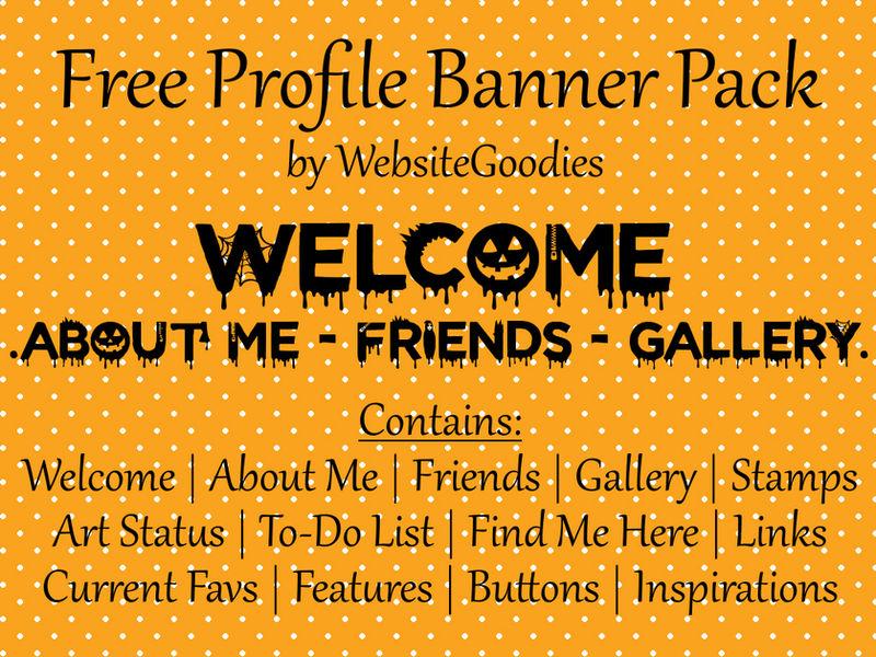 F2U Profile Banners // 001 Halloween by WebsiteGoodies
