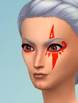 Sims 4 CC: Hyrule Warriors Impa Facepaint