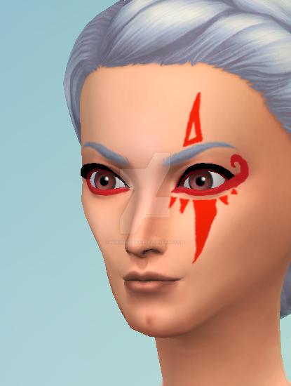 Sims 4 CC: Hyrule Warriors Impa Facepaint by Nukumnehtar