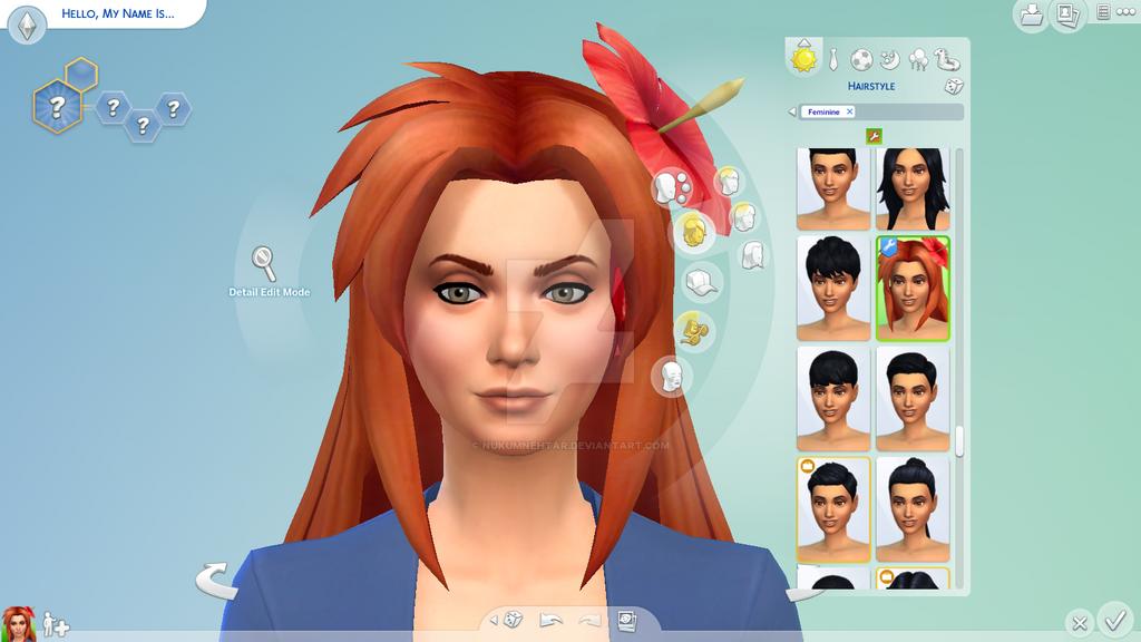 Sims 4 CC: Hyrule Warriors Marin's Hair by Nukumnehtar