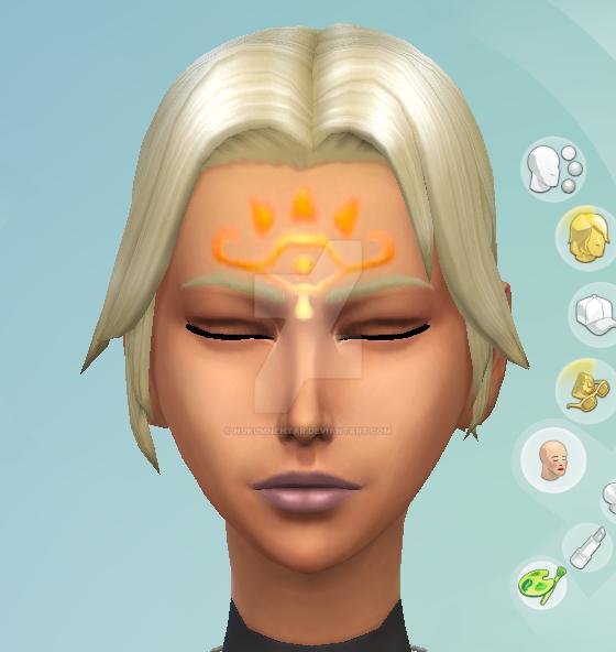 Twilight Princess Fanadi's Sheikah Facepaint by Nukumnehtar