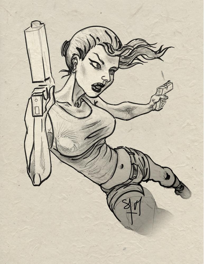 Lara Croft by Spacesam