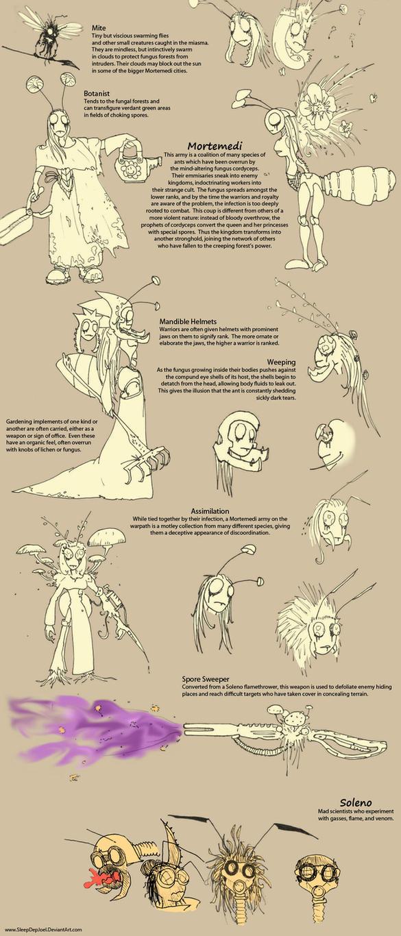 Mortemedi Concept Sketches by SleepDepJoel