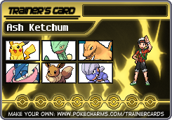 Ash Ketchum's Trainer Card (Head-Canon) by Hylian-Trainer