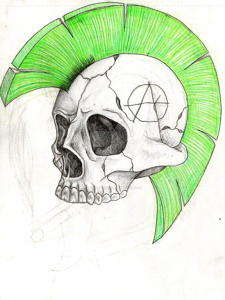 Punk Skull By Leepooleart On Deviantart