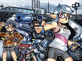 Splatoon 2 Blue team! by ONATaRT
