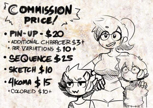 Commission price
