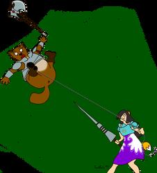 TERA Elin Lancer vs Popori Berserker