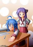 request - Konata and Kagami