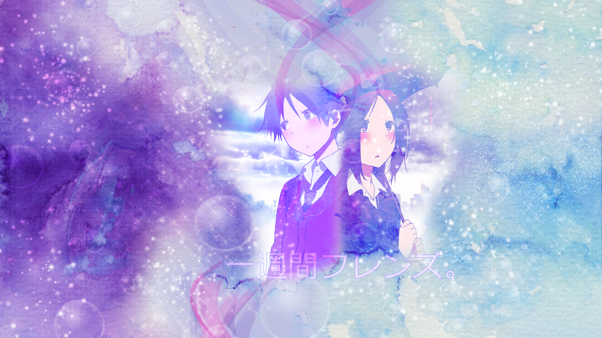 Isshuukan Friends - Kaori and Hase by KeiiiN