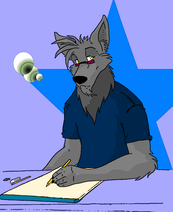 Silverwolf: a self portrait. by mastersilverwolf