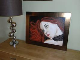 Framed Andreea WIP by M--Art