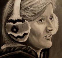 Rachel with ear muffs by M--Art