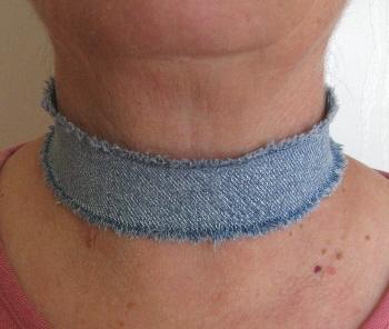 Denim Necklace 2-5 by maggiemaybecrafty
