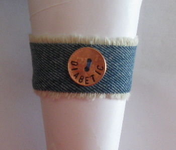 Denim Diabetic Bracelet 2-1 by maggiemaybecrafty