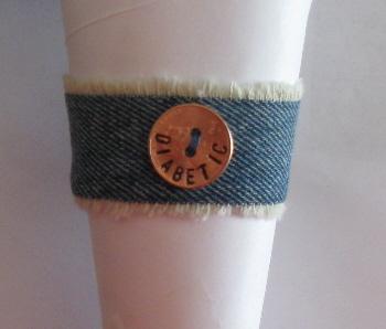 Denim Diabetic Bracelet 2-1 by maggiemaybecrafty