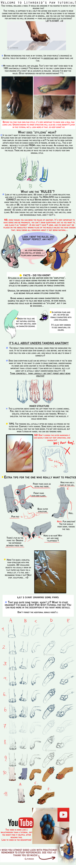 CANINE PAW TUTORIAL + VIDEO by Maditium