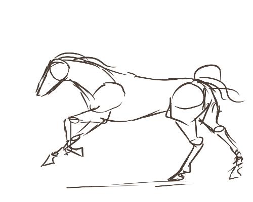 horse running animation frames