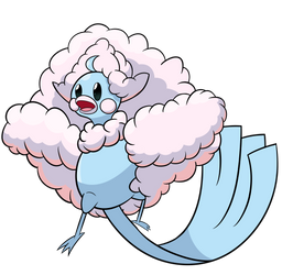 Dragon Dance-off Collab: Mega Altaria by osarumon