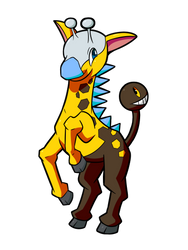 Psyched Up Collab: Shiny Girafarig by osarumon