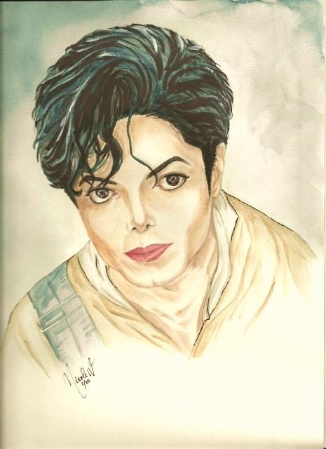 Michael by artistas - Página 2 Michael_Jackson_in_Childhood_by_mjdrawings
