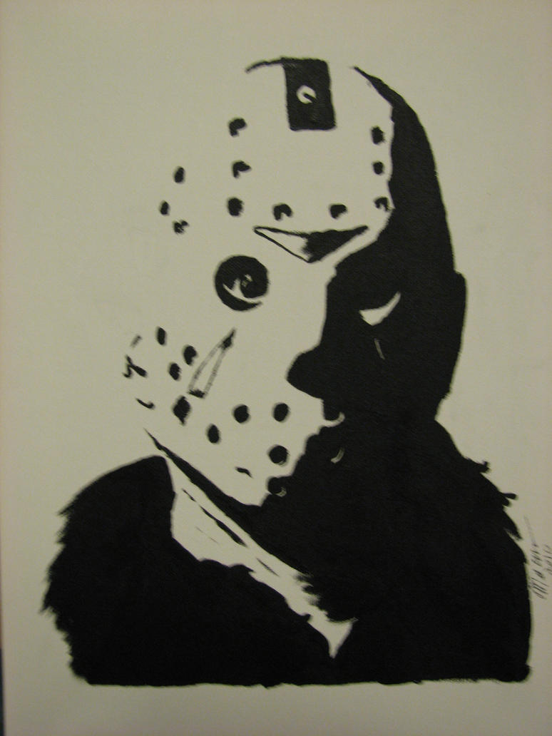 Pin Printable Jason Voorhees Mask Silhouette Air Rifle on ...