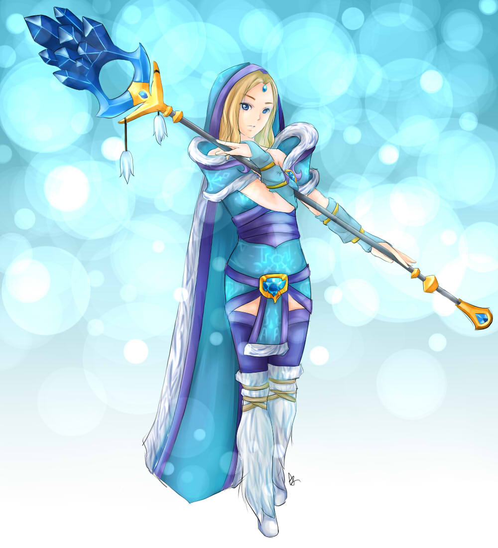 DOTA 2 Crystal Maiden By Domclw On DeviantArt