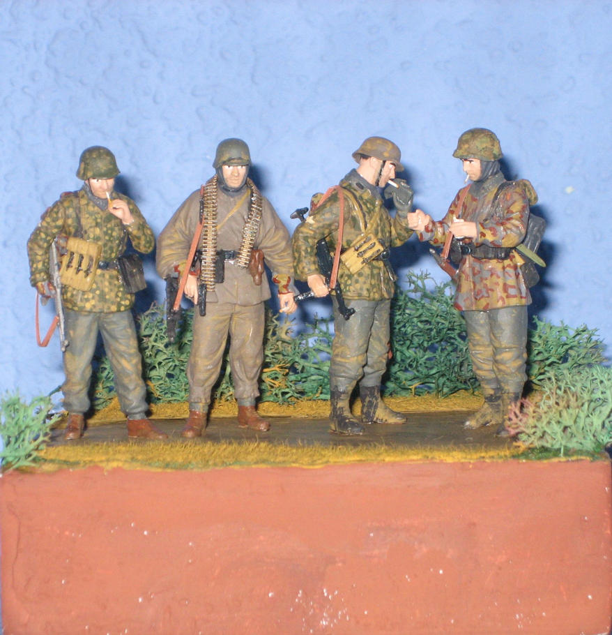 Ambush at Poteau, 1944 by AnAspieInPoland