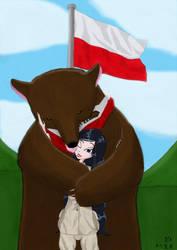 Calixte and Wojtek - a friendly Hug by AnAspieInPoland