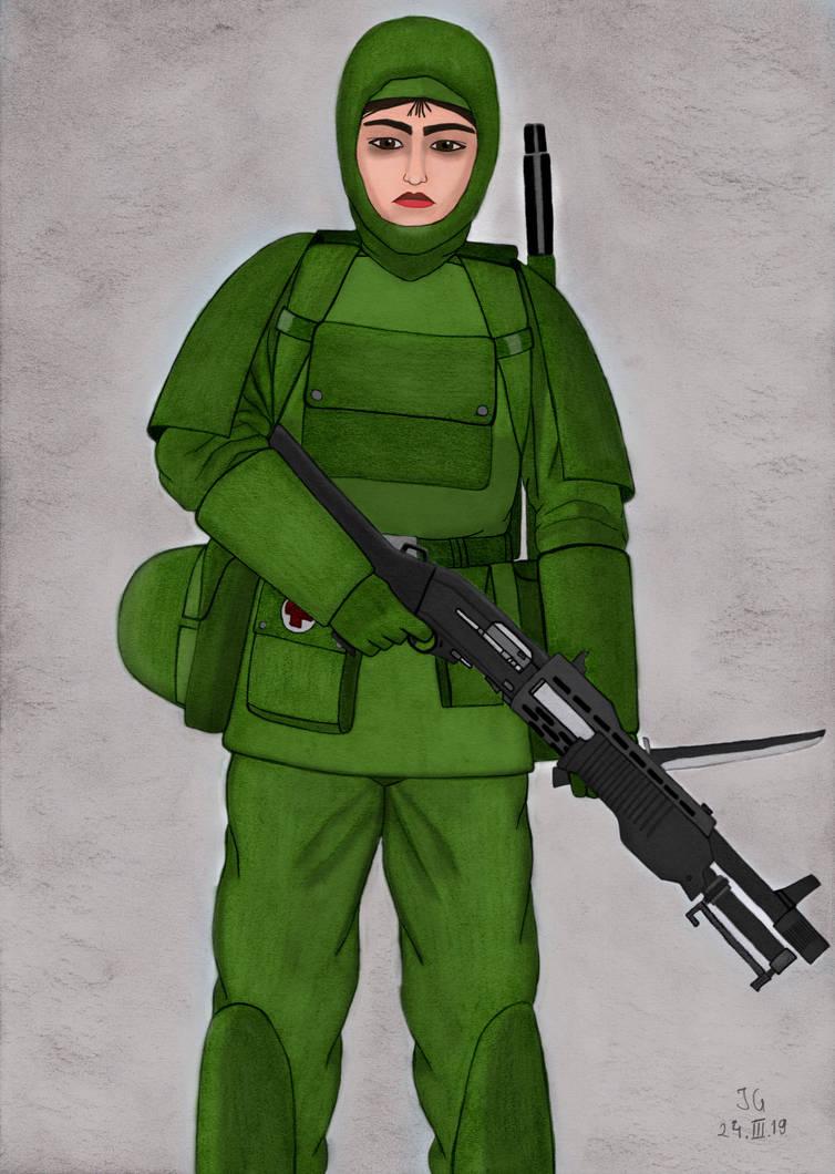 Beata ready for Action by AnAspieInPoland