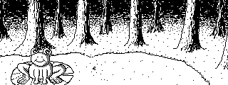 Frog in forest [Miiverse post] by KuriTails