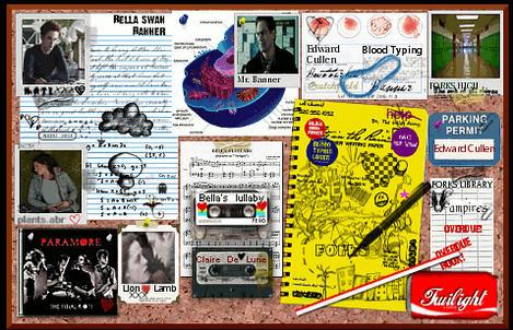 Bella's Bulletin Board (Twilight film 1) by Butterface93