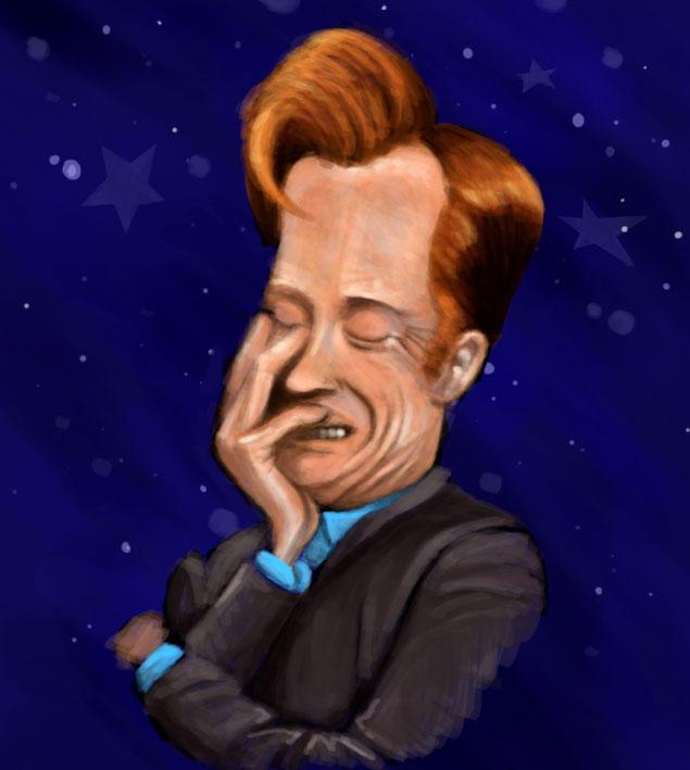 Conan Obrien caricature by MindGem
