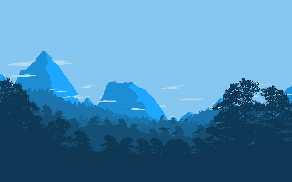 Flat landscape by shyfoxrawr on deviantart for Minimal art landscape