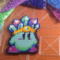 Perler Bead Ice Kirby by Nicketeer