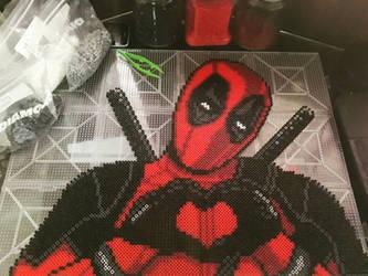 Perler Beads Deadpool! by Nicketeer