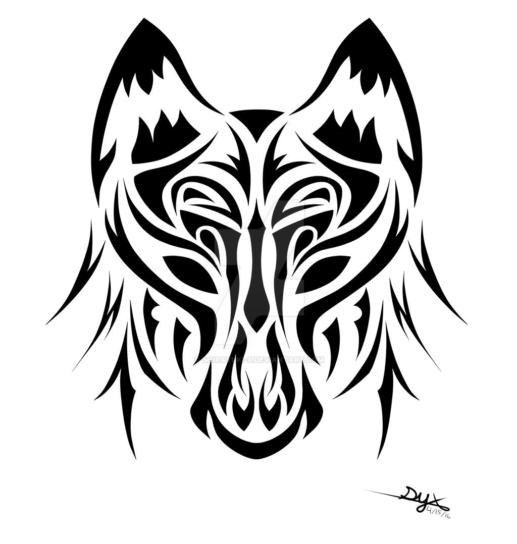 Tribal Wolf Wallpaper: Tribal Wolf By Shirayuki-X On DeviantArt