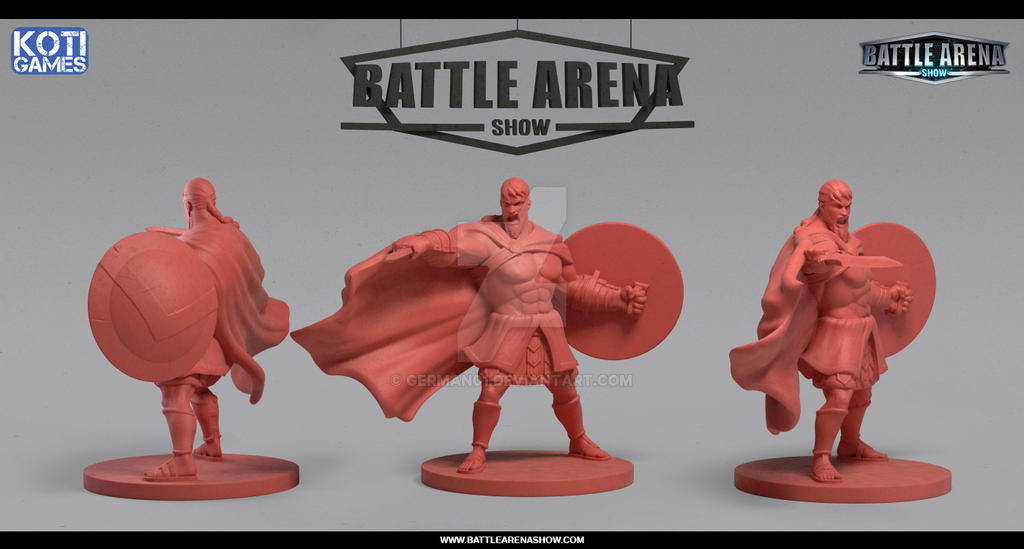 Battle Arena Show - Giles Hero Miniature by german01