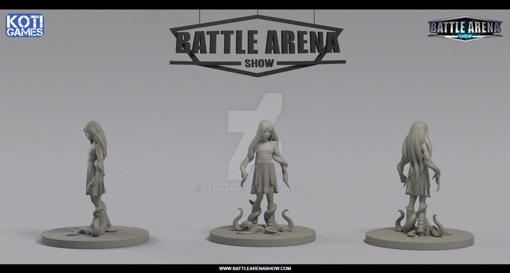 Battle Arena Show - Yurei Hero Miniature by german01
