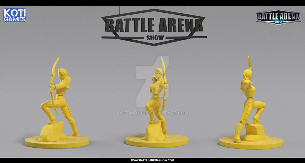 Battle Arena Show - Diane Hero Miniature by german01