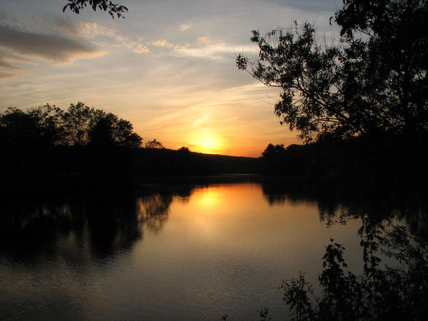 Sunset Pond by Persnicketier