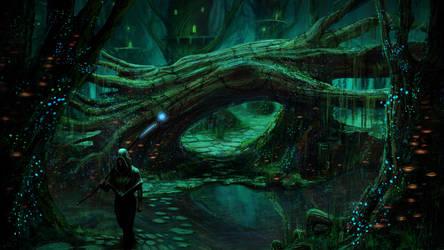 Druid forest by Ellixus