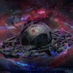 Burning Suns - Cyborg Homeworld by Ellixus