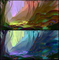 Magical Forest - Concept 02 by Ellixus