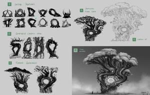 Magic portal - concept design steps by Ellixus