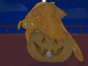 Orange Halloween by VenomQuill