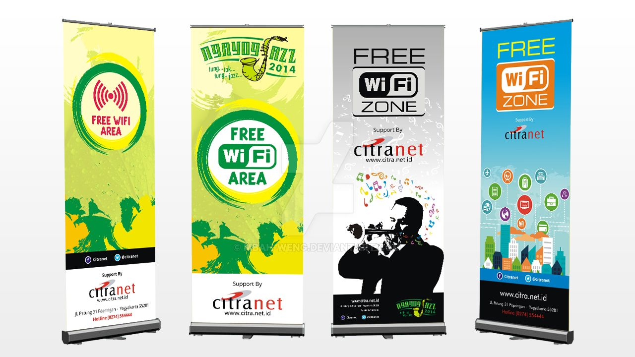 free wifi x banner design by mbah weng on deviantart