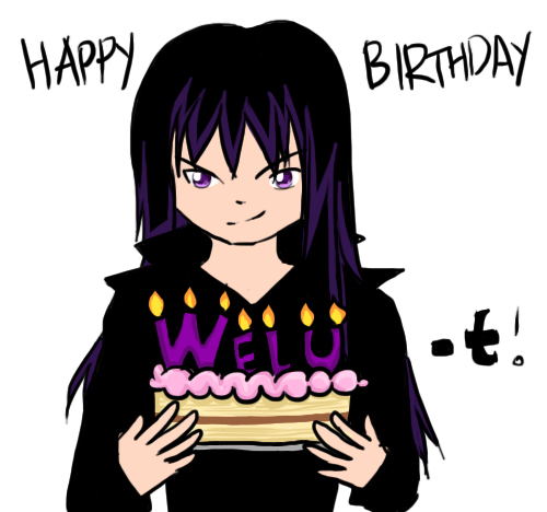 Happy Birthday Welu-t by RiyuXD